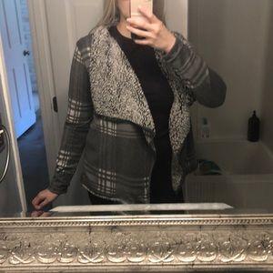 Fleece lined sweater/ blazer